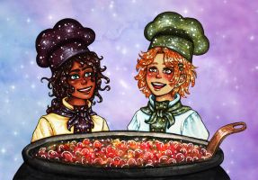 Magical little cooks! by Clef-en-Or