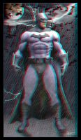 Batman Statue 2D to 3D by Geosammy