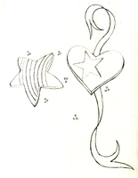 heart and star tattoo wip by Tayeloquin