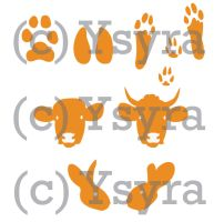 Paw Prints And Heads Commission by ysyra