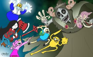 Adventure Time Gang vs. The Lich by callouscomics