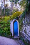 Blue Hobbit Door stock by little-spacey