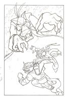 SWAT Kats tight pencils by Bee-chan