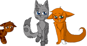 Squirrelflight and Ashfur by AveryMar