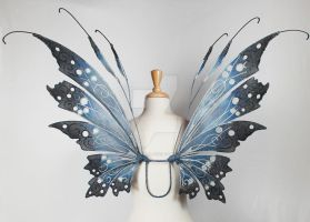 Selyse Fairy Wings in Blue and Black by glittrrgrrl