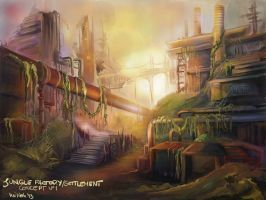 the Byss Project Concept Art by Milish
