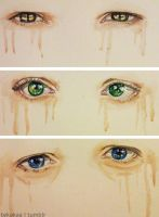 Team Free Will - Watercolor eyes by LinaKaye