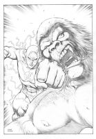 Flash VS Gorilla Grodd by FlowComa
