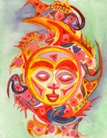 Sun and Fish in Color by jenthestrawberry