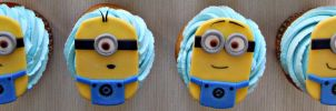 Minion Cupcakes by cake4thought