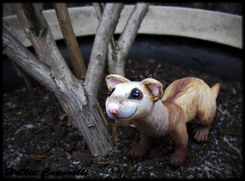 Gift: Ferret Sculpture by HollieBollie
