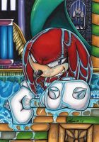 Knuckles swim at Hydrocity Zone by Chibi-Goddess-Ny