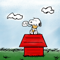 Snoopy and Woodstock by aznparakeet