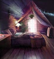 Dream Bedroom by imorawetz