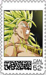 Broly Postage Stamp by WOLFBLADE111