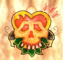 Heart as Skull colour version by monkeydeathcult