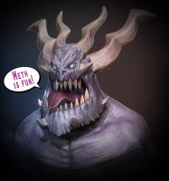 Demon bust by foobarsan