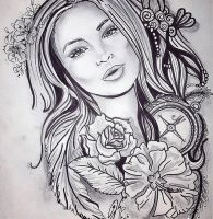 tattoo design by kristel peters  by kristelpeters