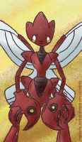 Scizor is standing here by Eledora
