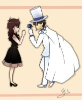 Aoko and Kaito Kid by happygirlXD