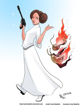 TLIID 323. Princess Leia by AxelMedellin