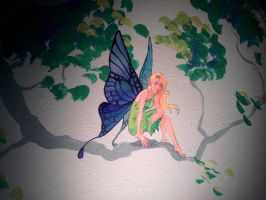 Fairy mural by CheshFire