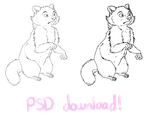 free to use raccoon lines! by ABSOLUTELY-HAPPENING