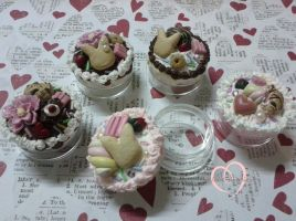 Decoden keepsake jars by ilikeshiniesfakery