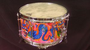 026 Dragon custom snare drum by InVistaArts