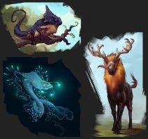 Exo planet animals #3 by Coffeeater