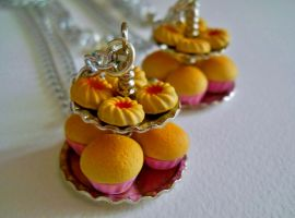Romantic Cupcake Stand Necklace by MarzapanArt