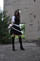 Dark School Girl with Katana VI by kndrwllmsn