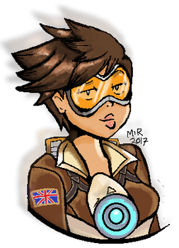 Tracer (Ms Paint) by Marmartota2001