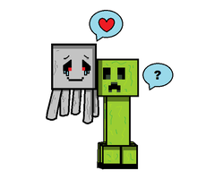 Creeper X Ghast by MarshallTrap