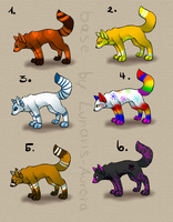 5 Points - Adopts #2 -- OPEN by LaikaWolfsoul-x3