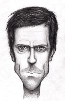 House - Hugh Laurie Caricature by pingvin66666