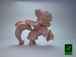Chibi Knight Pony for Impact Miniatures by zelldweller