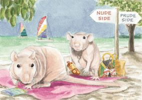 Nude Rat Beach by theillustratedrat