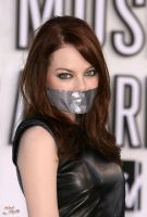 Emma Stone gagged by PhM 002 by PhMBond