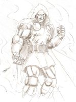 Dr Doom sketch by -vassago-