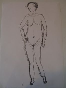 Figure drawing of a young woman 04 by R4VI4TOR