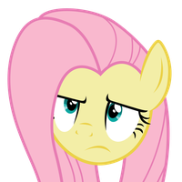 Fluttershy Unamused Face by Yanoda