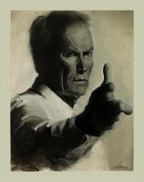 Clint Eastwood Portrait by Marluxia94