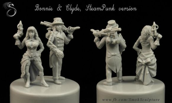 SteamPunk Bonnie and Clyde by smokwtd