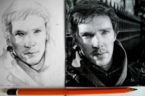 Benedict Cumberbatch sketch by ymymy
