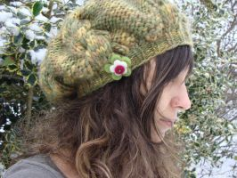 Warm Hand knitted cable hat *winter fashion by noisypixie