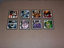 Mega Man 9 bosses coasters by mecharichter