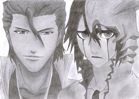 BLEACH: Aizen and Ulquiorra by Ka14