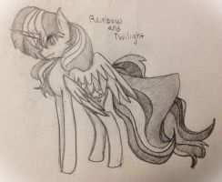 Twilight and rainbow fusion by mylittlelevi64