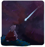 Meteor Shower by Tzadike